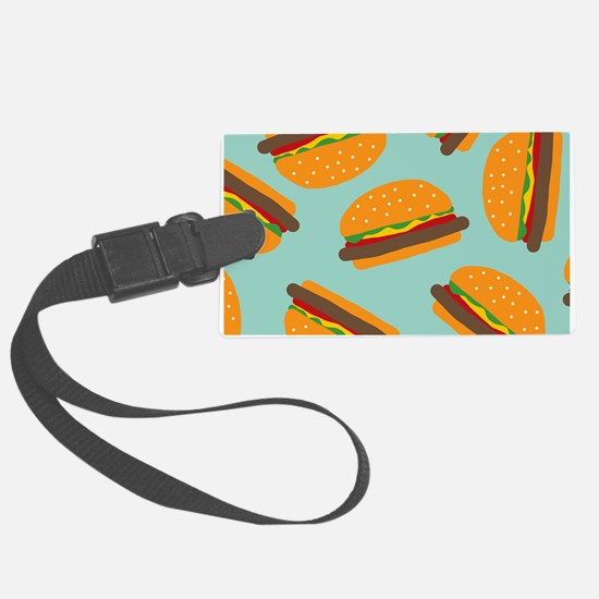 Cute Burger Pattern Luggage Tag