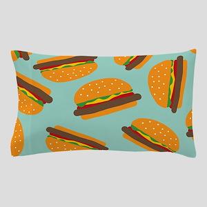 Cute Burger Pattern Pillow Case