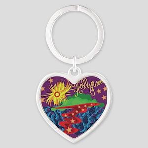 Hollywood Abstract Heart Keychain