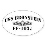 USS BRONSTEIN Sticker (Oval)