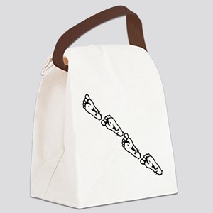 Squatch tracks Canvas Lunch Bag