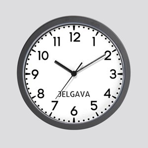 Jelgava Newsroom Wall Clock