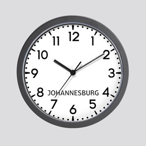 Johannesburg Newsroom Wall Clock