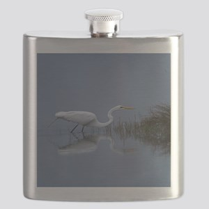 great white egret Flask