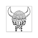 """Ballard Elks Emblem Square Sticker 3"""" x 3"""""""