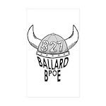 Ballard Elks Emblem Sticker (rectangle 50 Pk)