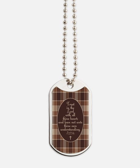 Proverbs 3:5 Bible Verse Dog Tags