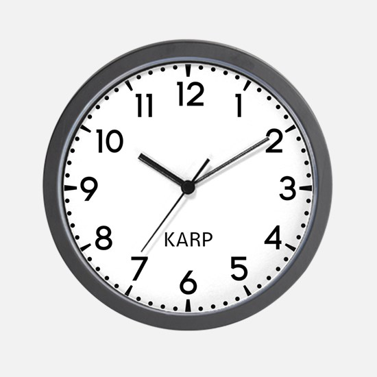Karp Newsroom Wall Clock