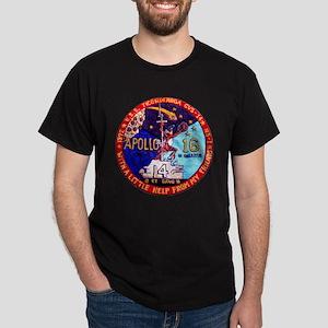 USS Ticonderoga & Apollo 16 Dark T-Shirt