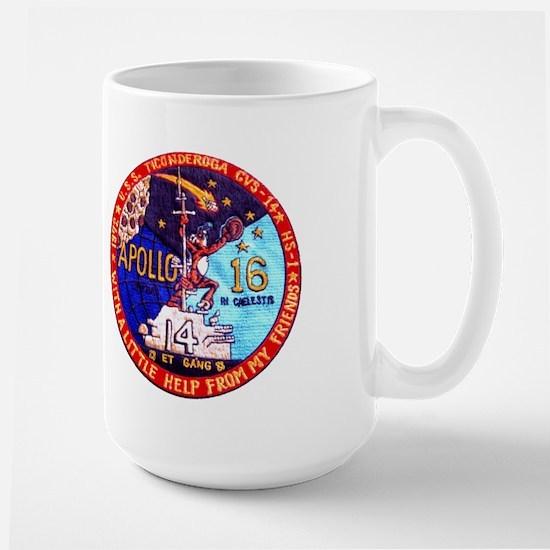 Uss Ticonderoga & Apollo 16 Large Mug Mugs