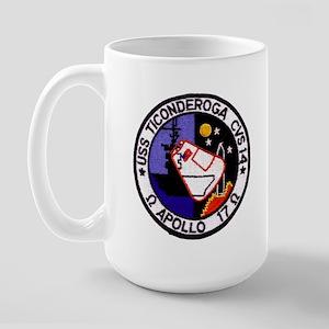 USS Ticonderoga & Apollo 17 Large Mug