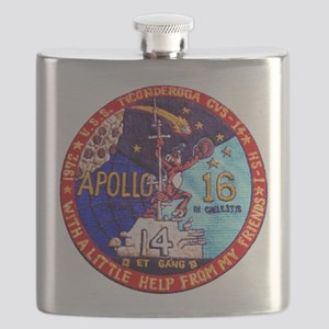 USS Ticonderoga & Apollo 16 Flask