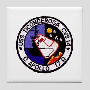 USS Ticonderoga & Apollo 17 Tile Coaster