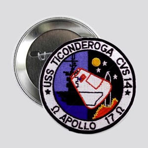 "USS Ticonderoga & Apollo 17 2.25"" Button"