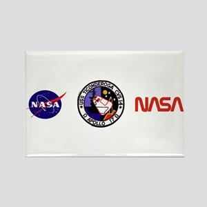 USS Ticonderoga & Apollo 17 Rectangle Magnet