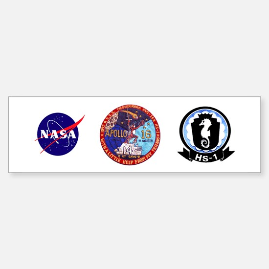 USS Ticonderoga & Apollo 16 Sticker (Bumper)