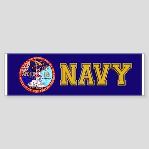 USS Ticonderoga & Apollo 16 Sticker (Bumper)