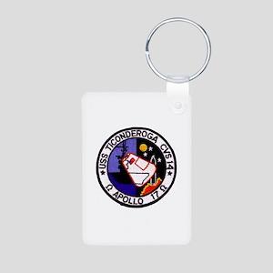 USS Ticonderoga & Apollo 1 Aluminum Photo Keychain