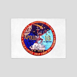 USS Ticonderoga & Apollo 16 5'x7'Area Rug
