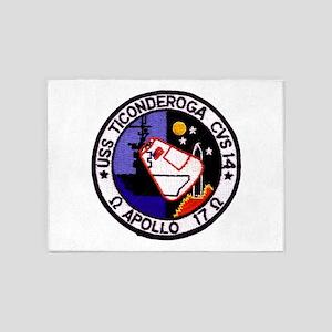 USS Ticonderoga & Apollo 17 5'x7'Area Rug