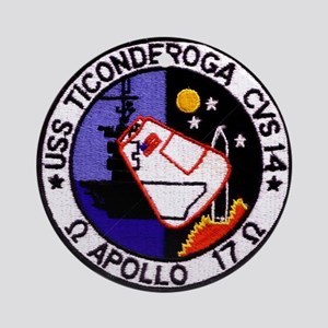 USS Ticonderoga & Apollo 17 Ornament (Round)