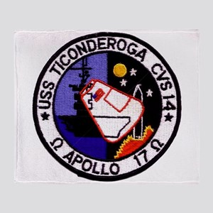 USS Ticonderoga & Apollo 17 Throw Blanket