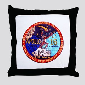 USS Ticonderoga & Apollo 16 Throw Pillow