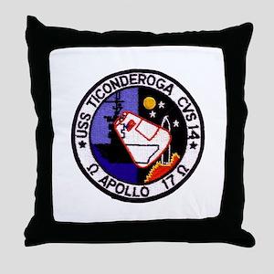USS Ticonderoga & Apollo 17 Throw Pillow