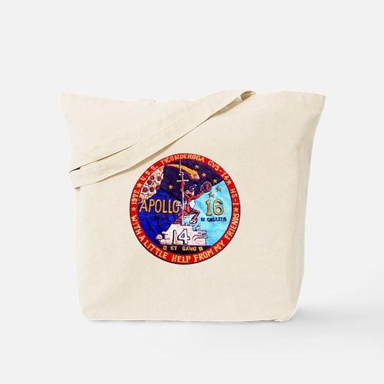 USS Ticonderoga & Apollo 16 Tote Bag