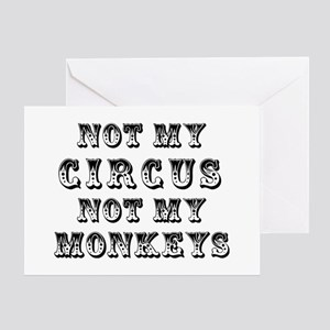 Not Circus Greeting Card