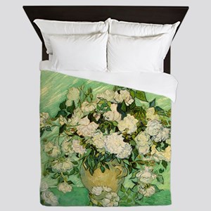 van gogh roses Queen Duvet