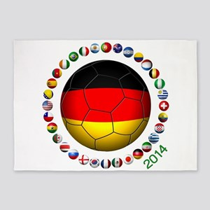 Germany soccer 5'x7'Area Rug