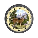 White Tailed Deer Wall Clock