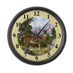 White Tailed Deer Large Wall Clock