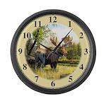 Moose Large Wall Clock