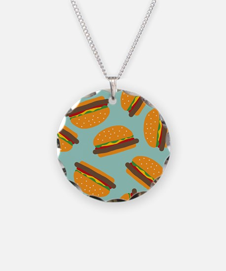 Cute Burger Pattern Necklace