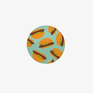 Cute Burger Pattern Mini Button