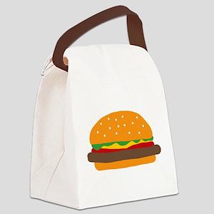 Cute Burger Canvas Lunch Bag