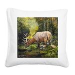 Elk Square Canvas Pillow