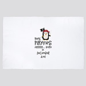 Real Pirates are born in DECEMBER 4' x 6' Rug