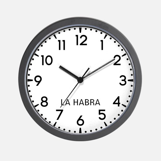 La Habra Newsroom Wall Clock