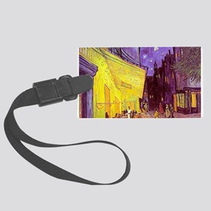 van gogh cafe terrace at night Luggage Tag