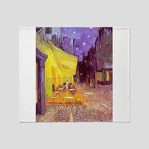 van gogh cafe terrace at night Throw Blanket