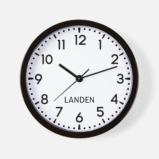 Landen Newsroom Wall Clock