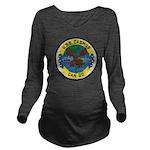 USS CADMUS Long Sleeve Maternity T-Shirt