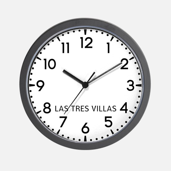 Las Tres Villas Newsroom Wall Clock