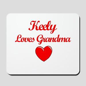 Keely Loves Grandma Mousepad