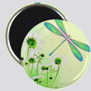 Green Dragonfly Summer Magnets