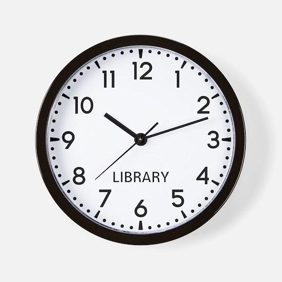 Library Newsroom Wall Clock