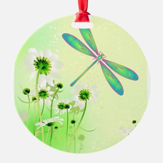 Green Dragonfly Summer Ornament